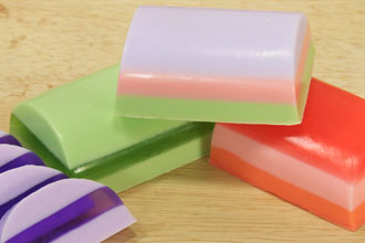 finished layered soaps assorted